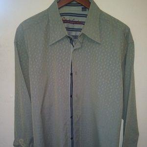 Robert Graham Mens Size 2XL Paisley Print Shirt